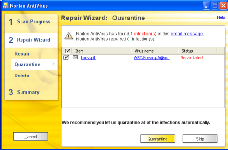 Norton AntiVirus picks up ANOTHER Internet worm