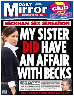 MY SISTER DID HAVE AN AFFAIR WITH BECKS