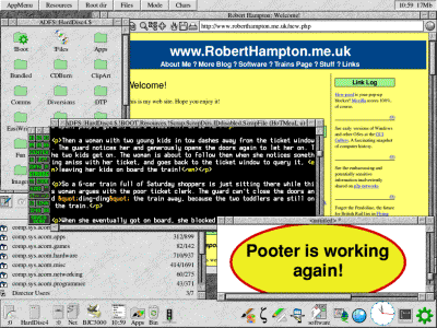 RISC OS Desktop - The Pooter is Working!
