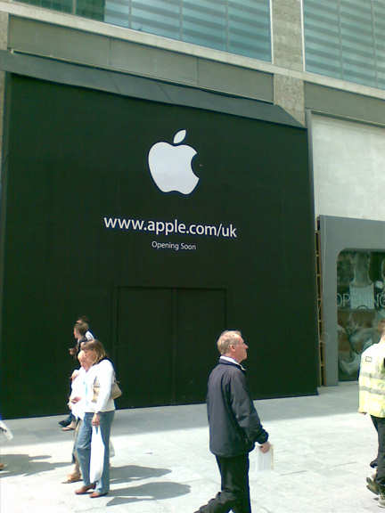 Apple store opening soon!
