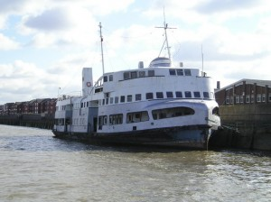 Royal Iris tied up in London, 2006