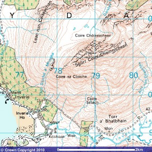 Ordance Survey Map of Knoydart