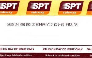 Glasgow Subway ticket