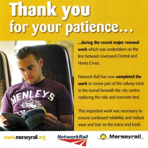 Merseyrail Thank You Leaflet