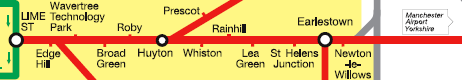 City Line map of Liverpool and Manchester Railway