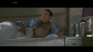 Dr Bond in bed