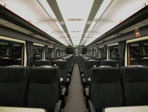 Wrexham and Shropshire train interior