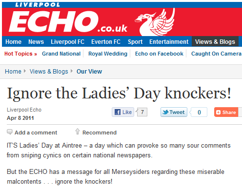 Ignore the Ladies' Day knockers!