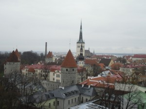 View of the Estonian capital city, Tallinn