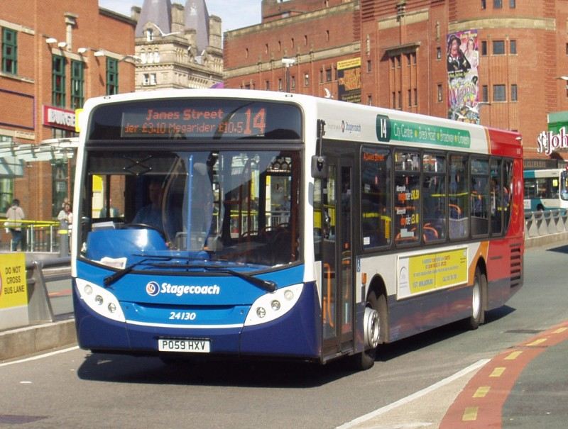 Stagecoach Bus in Queen Square Bus Station, Liverpool