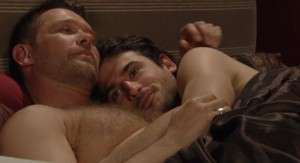 Christian and Syed in bed together