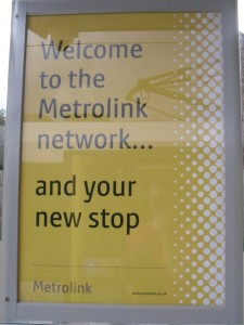 """Welcome to the Metrolink network... and your new stop"""