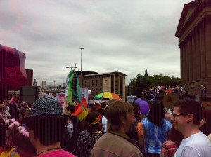 Photo of Liverpool Pride marchers