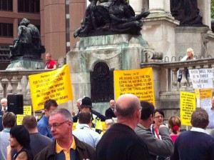 Photo of anti-gay protesters in Derby Square