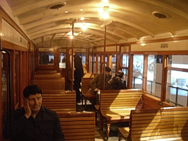 Photo of Interior of Liverpool Overhead Railway Carriage