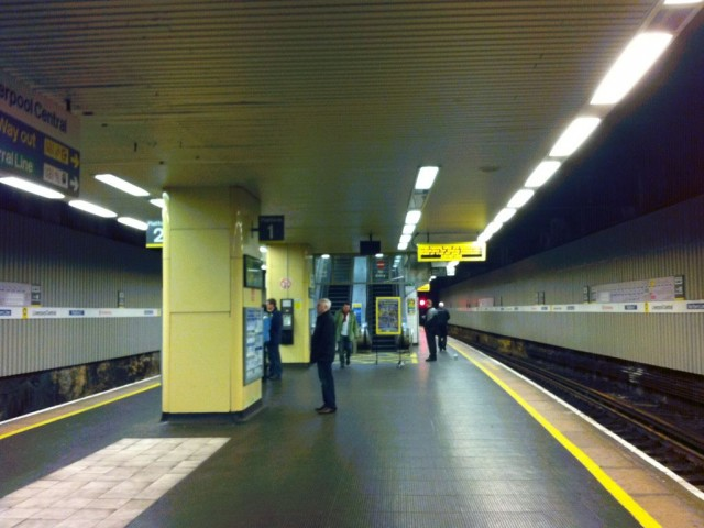 Photo of near-empty Liverpool Central station