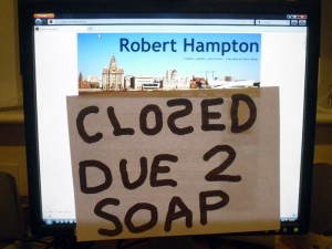 "Photo of RobertHampton.me.uk ""closed"""
