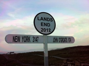 Photo of the Signpost at Land's End