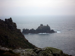 Photo of rock formations in the sea off Land's End