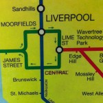 Extract from Merseyrail map showing Central station crossed out