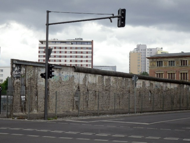 Berlin Wall remnant parallel to Niederkirchnerstraße