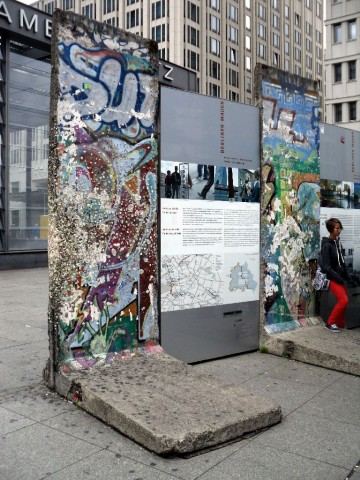 Berlin Wall fragments at Potsdamer Platz