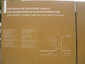 Checkpoint Charlie information board