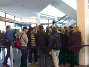 Queue at the Fernsehturm