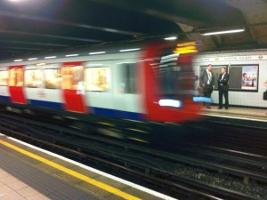 Train in Euston Square Underground station