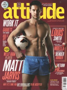 Matt Jarvis on the cover of Attitude