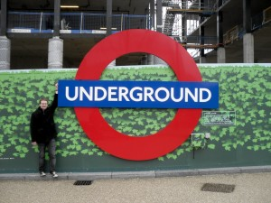 Giant London Underground roundel
