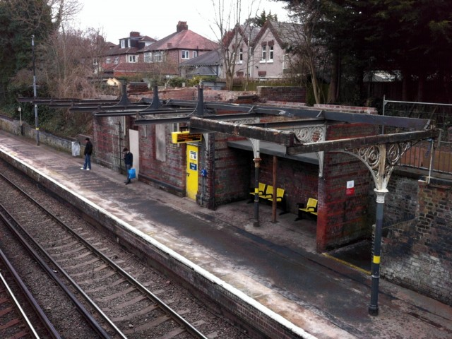 Aigburth station canopy partly removed