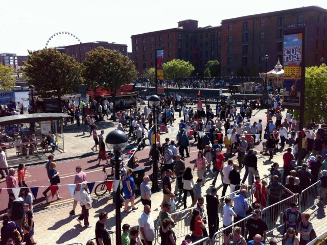 Crowds at the Albert Dock