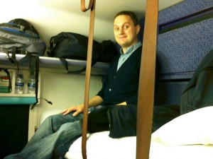 Ian in his bunk