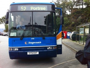 Stagecoach bus at Armadale ferry terminal