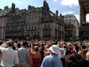 Crowds near Town Hall