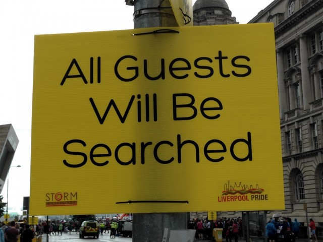 All guests will be searched