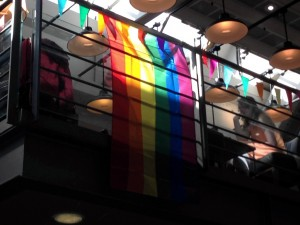 Rainbow Flag in the Station