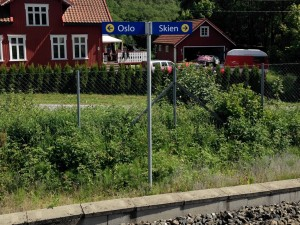Oslo/Skien Direction Sign