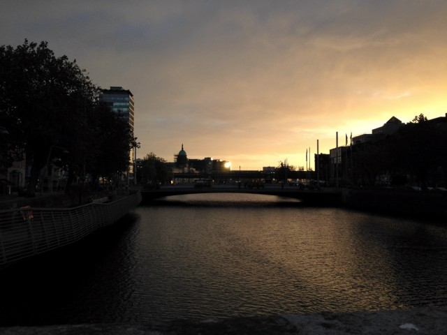 Sunrise over the Liffey